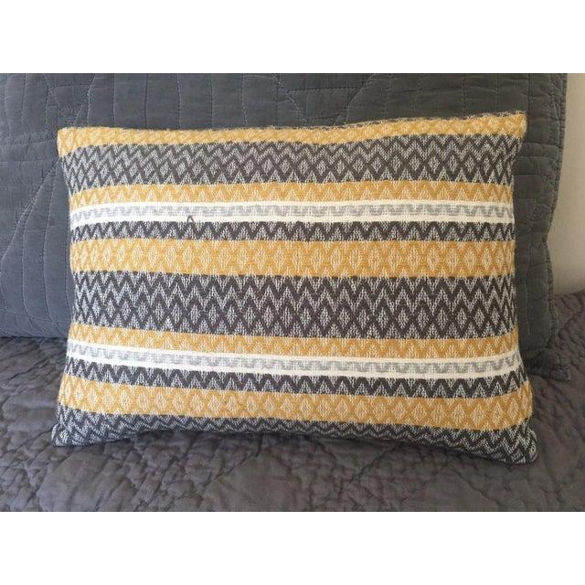 West Elm Silk Jacquard Hand-Woven Pillows - A Pair - Image 3 of 11