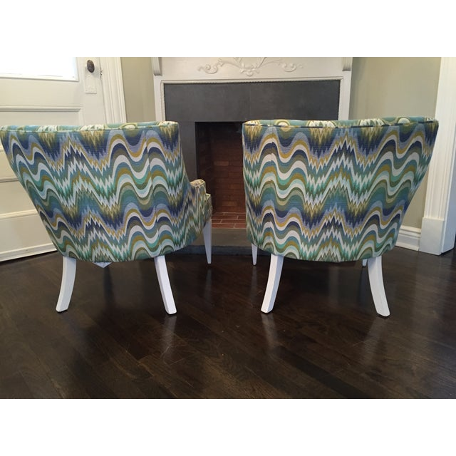 Jonathan Adler Haines Chairs - A Pair - Image 3 of 11