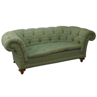 Baker Furniture Tufted Channel Back Sofa