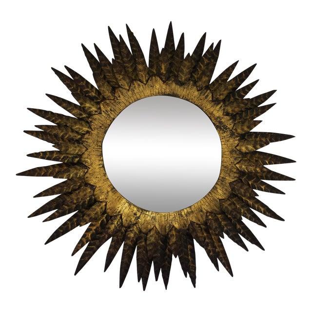 Italian Mid Century Sunburst Mirror - Image 1 of 6