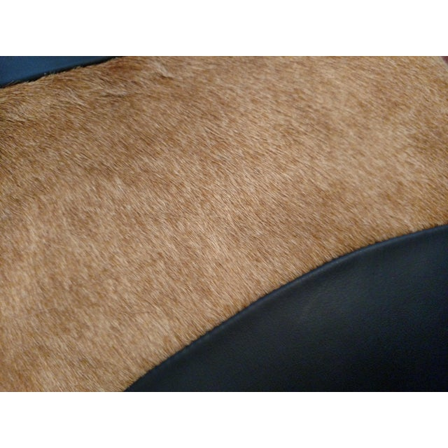 Logan Collection Leather & Cowhide Pillow - Image 4 of 5