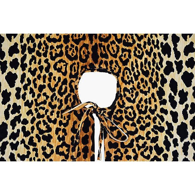 "Custom Tailored X-Large 55"" Leopard Velvety Christmas Tree Skirt - Image 6 of 11"