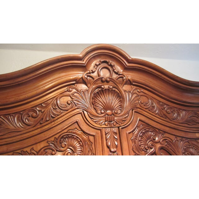 Traditional Carved Cherry Armoire - Image 2 of 9