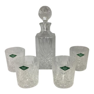 Shannon Crystal Decanter and Glass Set - Set of 5