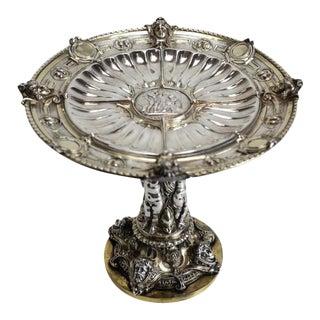 19th Century Elkington Mason & Co. Gilt & Silver Plate Classical Tazza