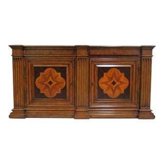 Ethan Allen Lombard Marquetry Sideboard Cabinet Buffet