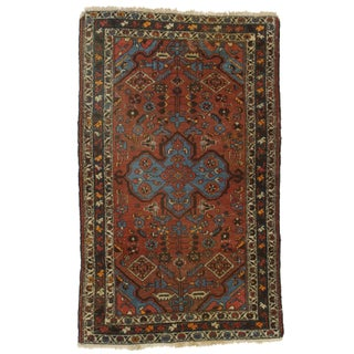 Persian Hamadan Hand-Knotted Wool Rug - 4' X 6'6""