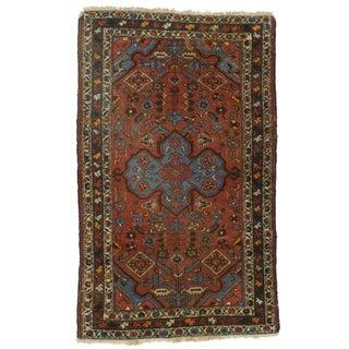 "Persian Hamadan Hand-Knotted Wool Rug - 4' x 6'6"""