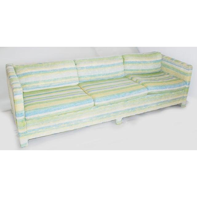 Vintage Erwin-Lambeth Three-Seat Green & Aqua Sofa - Image 2 of 10