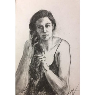 French Portrait Charcoal Drawing #5