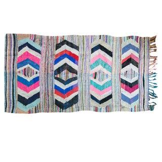 "Vintage Rag Rug Carpet - 5'1"" X 9'2"""