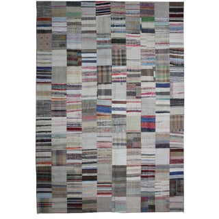 "Hand Knotted Patchwork Kilim by Aara Rugs Inc. - 13'2"" X 9'10"""
