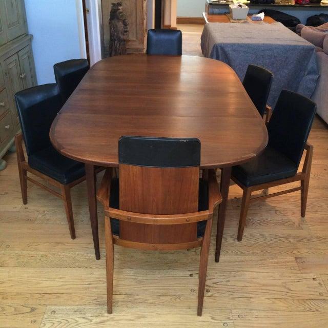 Mid Century Dining Set: Mid-Century Modern Walnut Dining Set