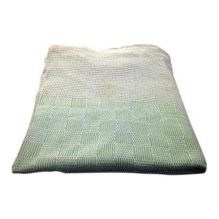 Vintage Green & White Mesh Tablecloth