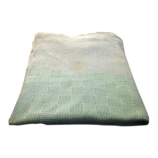 Vintage Green & White Mesh Tablecloth