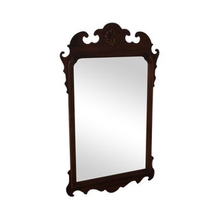 Vintage Solid Mahogany Chippendale Style Wall Mirror