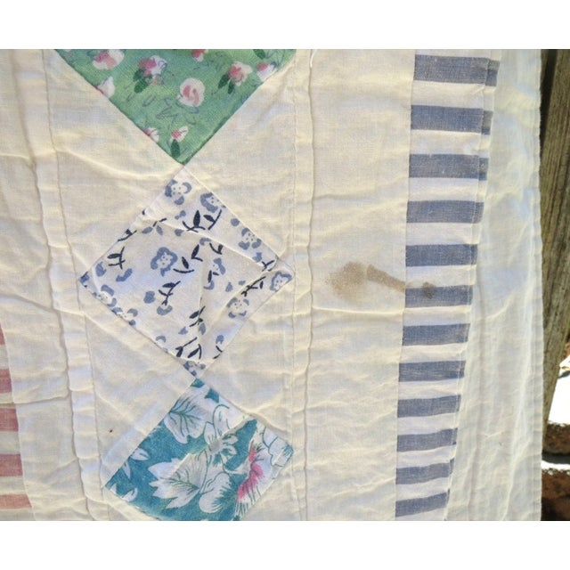Vintage Feedsack Star Quilt - Image 6 of 8