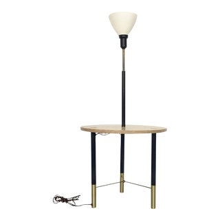 Harvey Probber Round Floor Lamp with Table