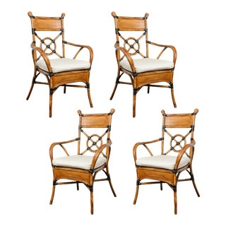 1960 Bamboo & Rattan Chairs - Set of 4