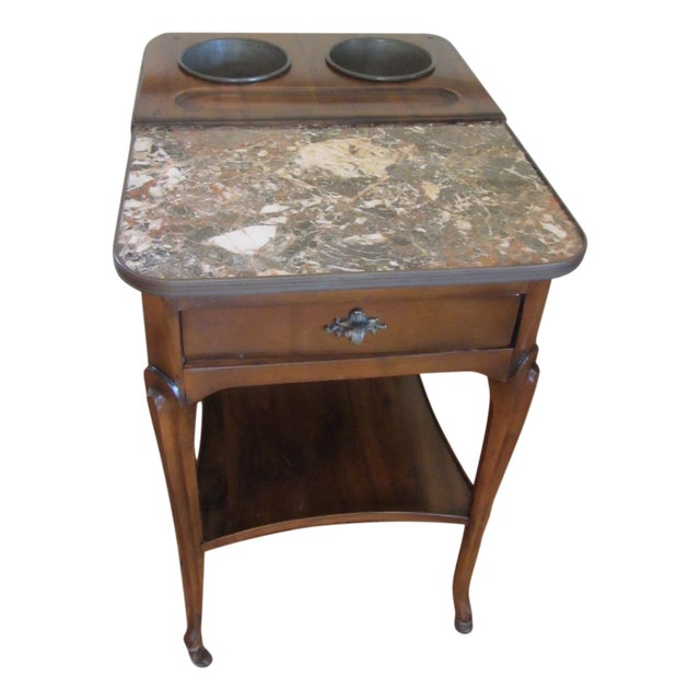 De Bournay Champagne Table With Marble Top - Image 1 of 10