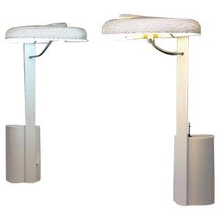 Ron Rezek Perforated Metal Desk Lamps - Pair