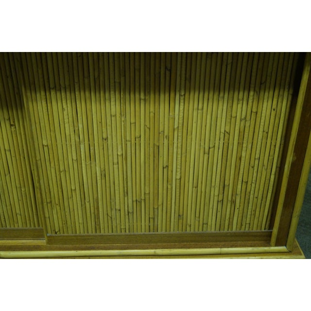 Mid-Century Bamboo Rattan Sideboard Credenza - Image 10 of 10