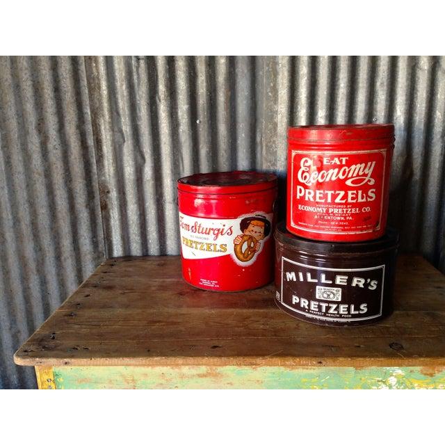 Vintage Eat Economy Pretzels Container - Image 7 of 8