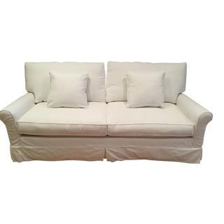 Crate & Barrel Harborside Slipcovered Full Sleeper Sofa