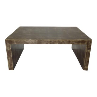 Billy Baldwin Gold Leaf Waterfall Low Table