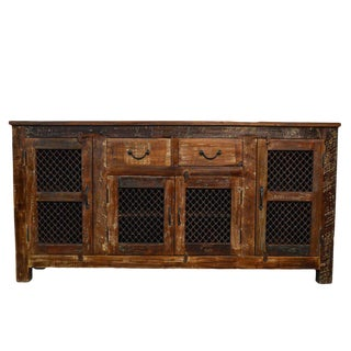 Reclaimed Wood & Iron Sideboard