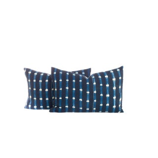 Vintage Indigo Dyed Pillows - A Pair