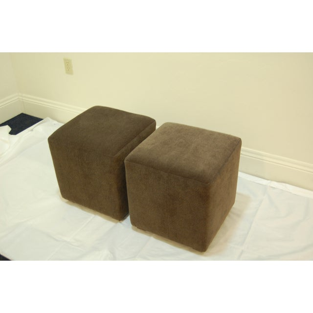 Mitchell Gold + Bob William Cube Ottomans - Image 2 of 5