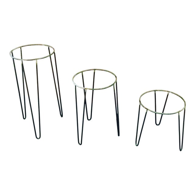 Image of Mid-Century Plant Stands - Set of 3