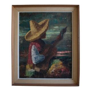 Spanish Guitarist Oil Painting by Berte