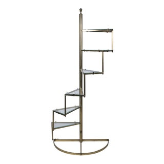 Stepped Form Brass Etagere