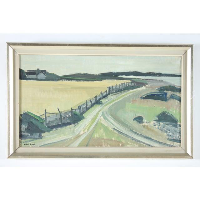 Vintage 1959 Landscape Oil Painting - Image 2 of 3