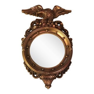 Vintage Syroco Gold Convex Federal Eagle Mirror