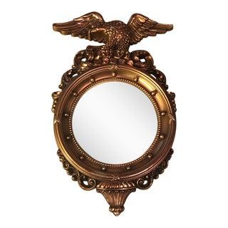 Vintage Syroco Gold Convex Federal Eagle Mirror