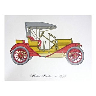 Mid-Century Lithograph of a 1910 Hudson Roadster
