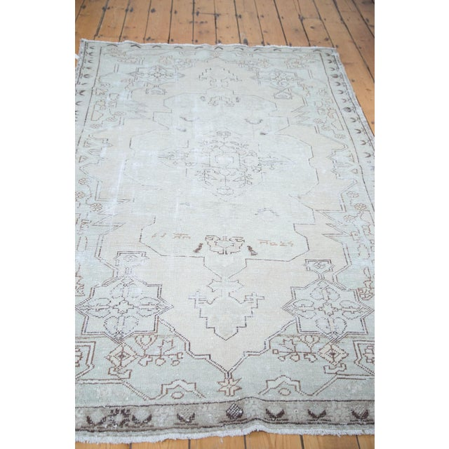 "Distressed Oushak Rug - 4'8"" X 7'5"" - Image 4 of 10"