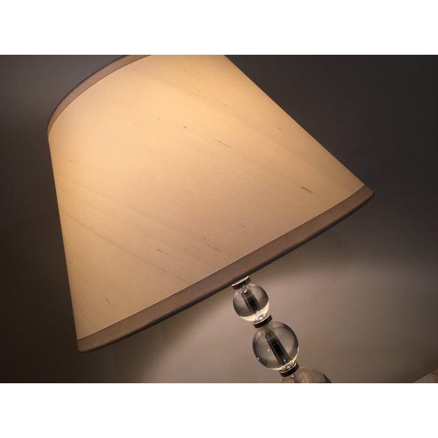Restoration Hardware Crystal Ball Lamp - Image 3 of 6