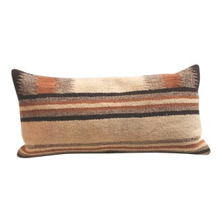 Pair of Navajo Indian Weaving Saddle Blanket Pillows