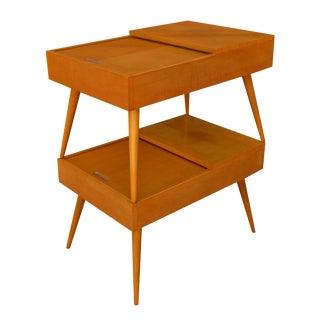 Vintage Brown Saltman John Keal Side Tables - Pair