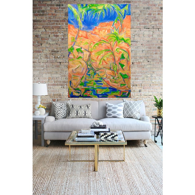 """Extra Large Abstract Oil by Trixie Pitts 72""""x48"""" - Image 2 of 3"""