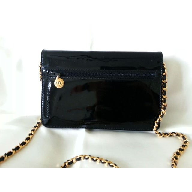 Image of Chanel CC Stitching Patent Leather Cross Body bag