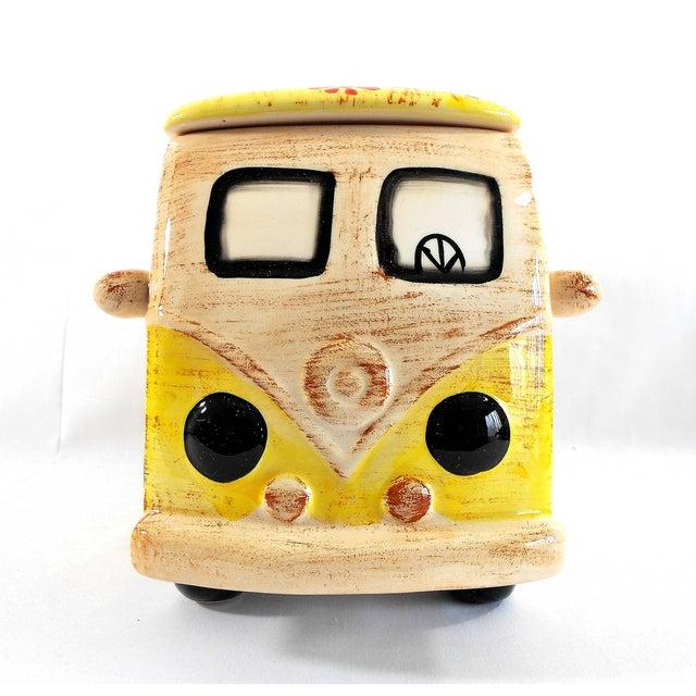 Yellow Hippie Van Ceramic Cookie Jar - Image 4 of 10