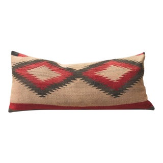 Early Muted Navajo Indian Weaving Pillow
