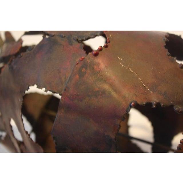 Image of Torch-Cut Mixed Metal 'Bull' Sculpture