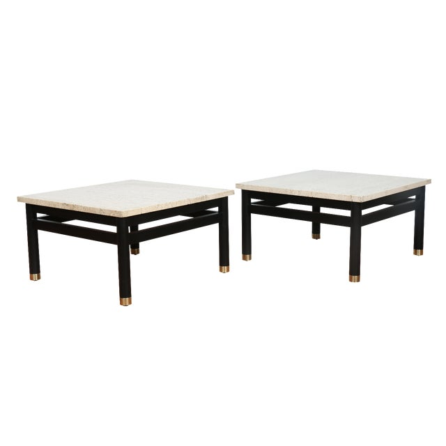 Lacquered Side Tables - A Pair - Image 1 of 11