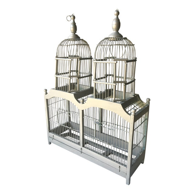Summer Shimmer Wood Bird Cage - Image 1 of 4